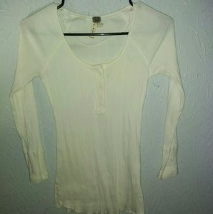 New We the Free People S long sleeve henley shirt